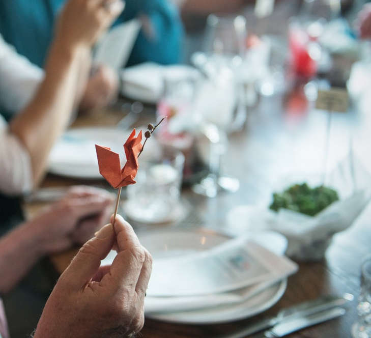 Origamidekoration - Hochzeitsdekoration