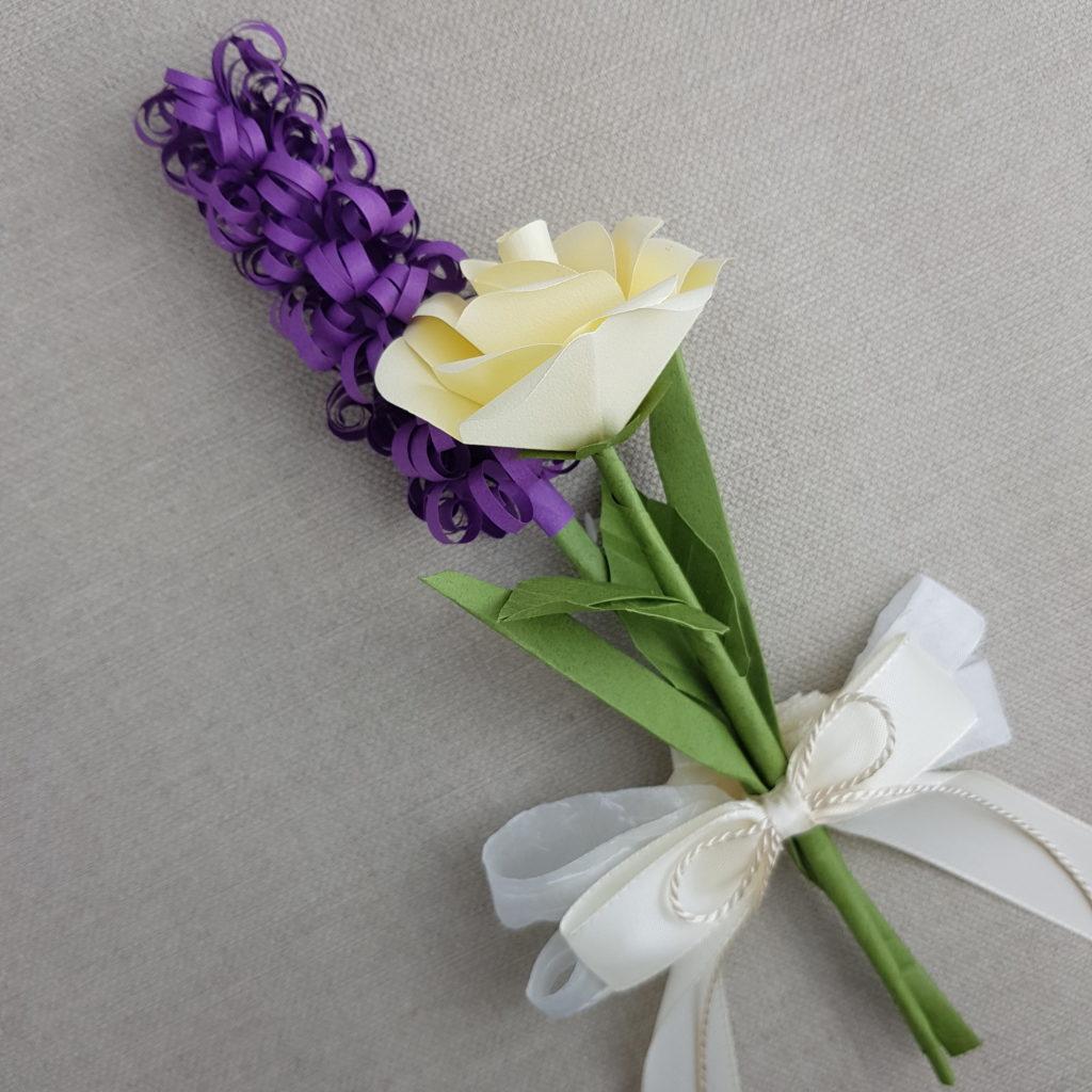 Hochzeit Autoschleife Papierblumen