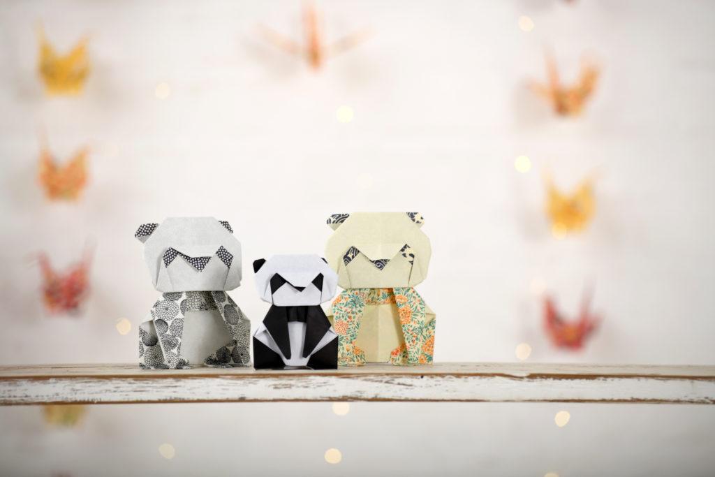 Origami Anfänger einfach Kinder Fortgeschrittene Panda