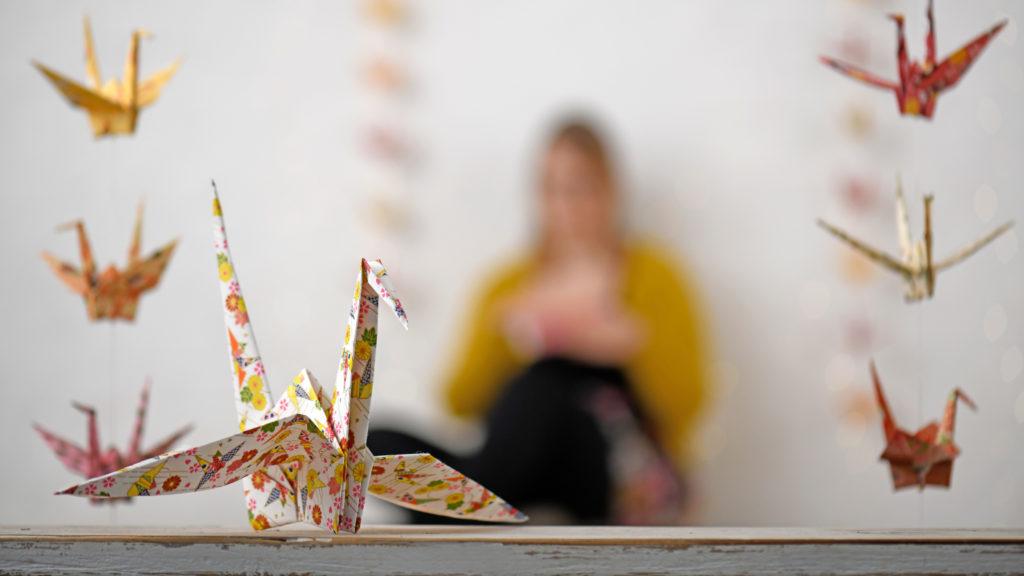 Origami Kranich Japan Papierkunst