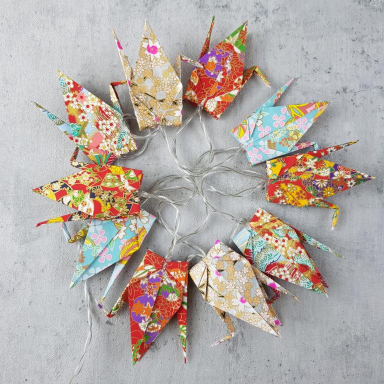 Origami DIY-Box Lichterkette