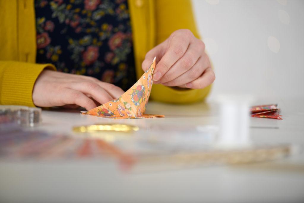 DIY-Box Origami Lichterkette zum selber machen