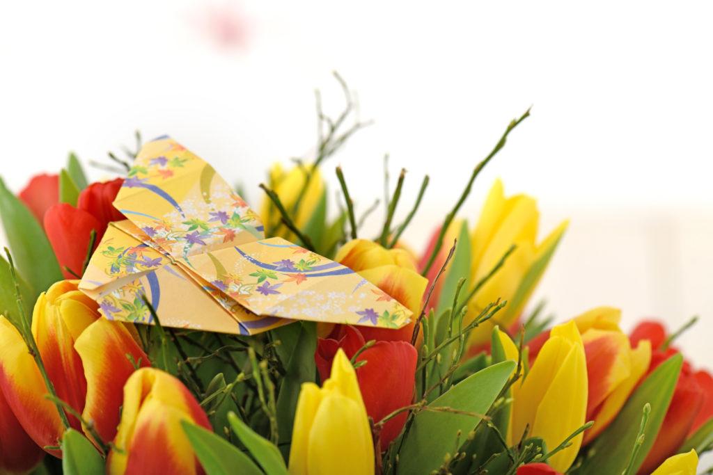 Blumendekoration Papier Origami Hochzeit